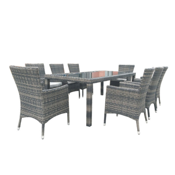 Milford 9PC Dining Setting DINING VIVIN - OSMEN OUTDOOR FURNITURE-Sydney Metro Free Delivery