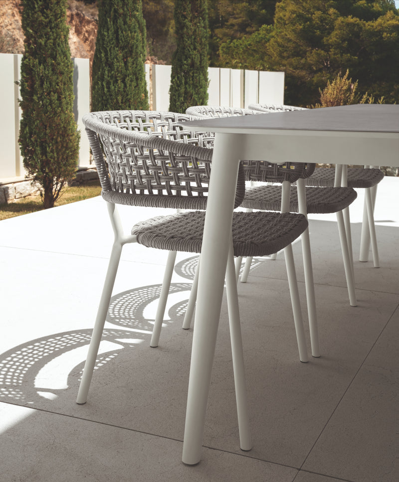 MOON (240-300) Italian Ceramic Top® extension dining table - All weather®