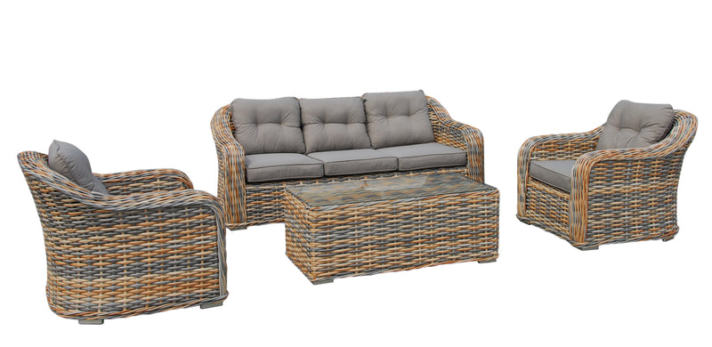 New york Premium Solarfast® wicker 4pc setting LOUNGE Nest - OSMEN OUTDOOR FURNITURE-Sydney Metro Free Delivery