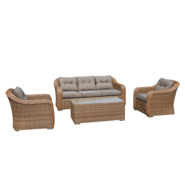 NEW YORK Lounge 4PC Kit/Set - OSMEN OUTDOOR FURNITURE-Sydney Metro Free Delivery