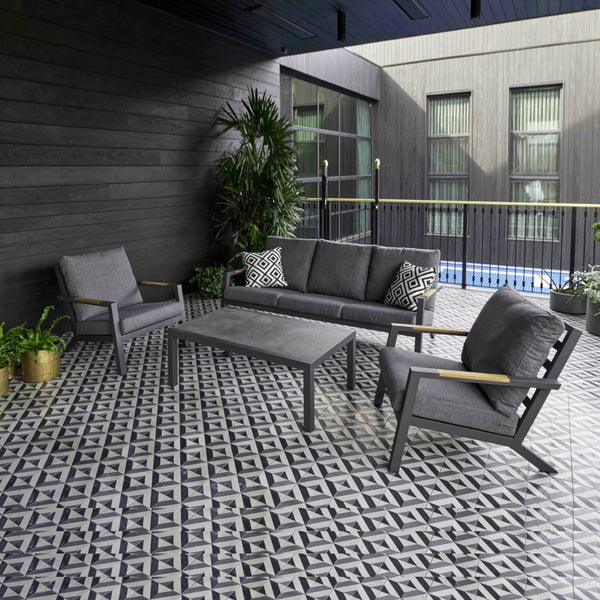 NICE Lounge 4PC Kit/Set LOUNGE MELTON CRAFT - OSMEN OUTDOOR FURNITURE-Sydney Metro Free Delivery