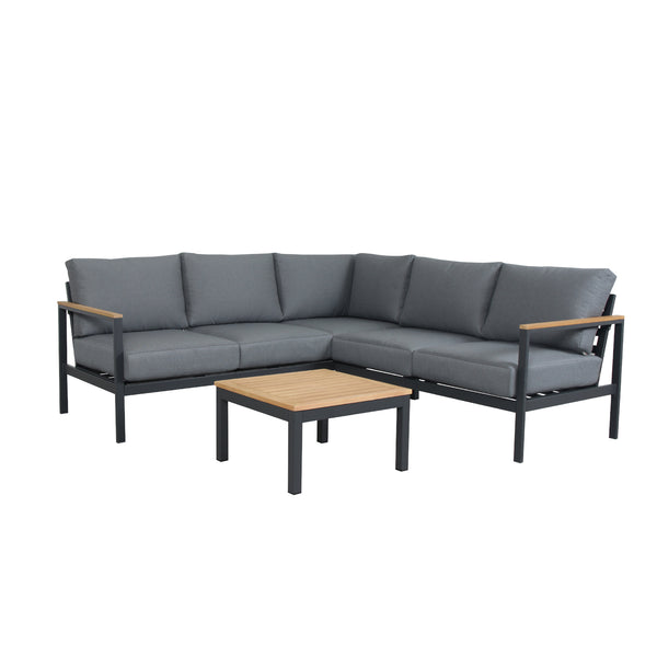 GEATA 4PCE CORNER LOUNGE SETTING LOUNGE GOOD LIVING GLOBAL - OSMEN OUTDOOR FURNITURE-Sydney Metro Free Delivery