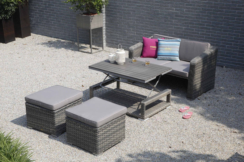 Laval 4pc Multi functional setting( Lounge/Dining/Daybed)- 3 in 1