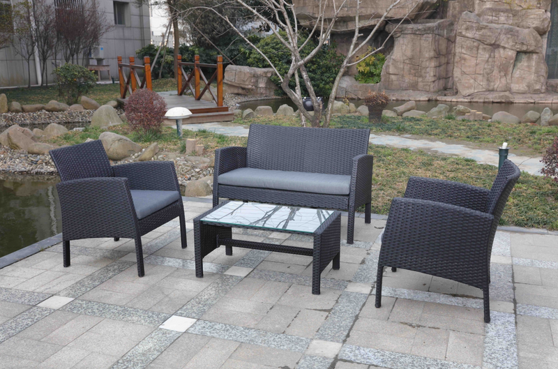 BLACK TOWN Lounge 4PC Kit/Set LOUNGE Nest - OSMEN OUTDOOR FURNITURE-Sydney Metro Free Delivery