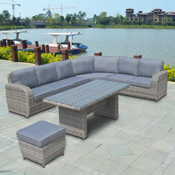 BROOKLYN Modular 5PC Kit/Set LOUNGE 0 - OSMEN OUTDOOR FURNITURE-Sydney Metro Free Delivery