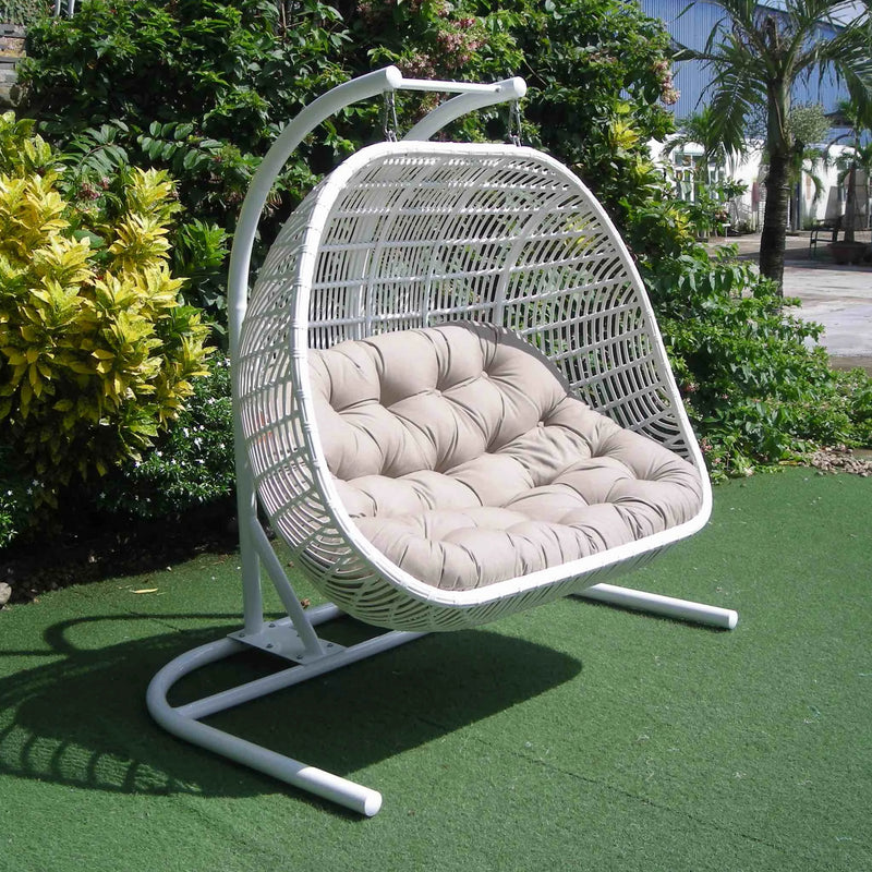 Havana Premium Pe Wicker Double Hanging Chair Sunbrella Fabric A Osmen Outdoor Furniture