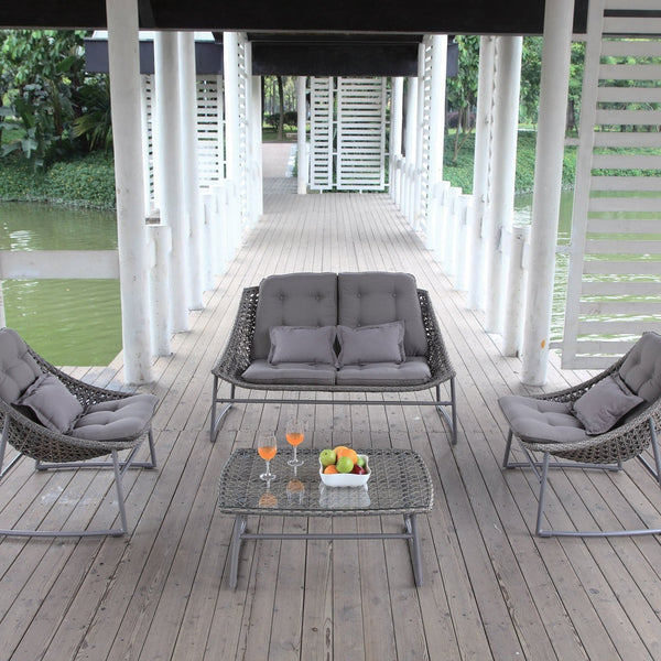 La CIOTAT Lounge 4PC Kit/Set LOUNGE Nest - OSMEN OUTDOOR FURNITURE-Sydney Metro Free Delivery