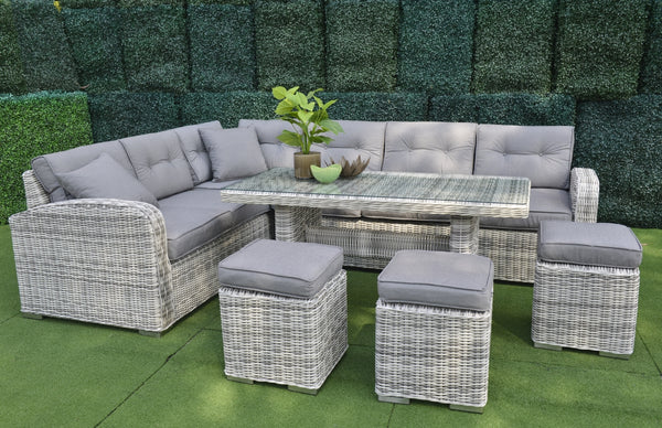 Santorini Solarfast® 6PC Lounge/ Dining setting LOUNGE Nest - OSMEN OUTDOOR FURNITURE-Sydney Metro Free Delivery
