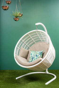 Orb Premium Bamboo Wicker® Hanging Chair - Sunbrella fabric®(All Weather)
