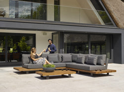 Panama 4pc teak modular setting - All weather®sunbrella fabric®(Only one set left)