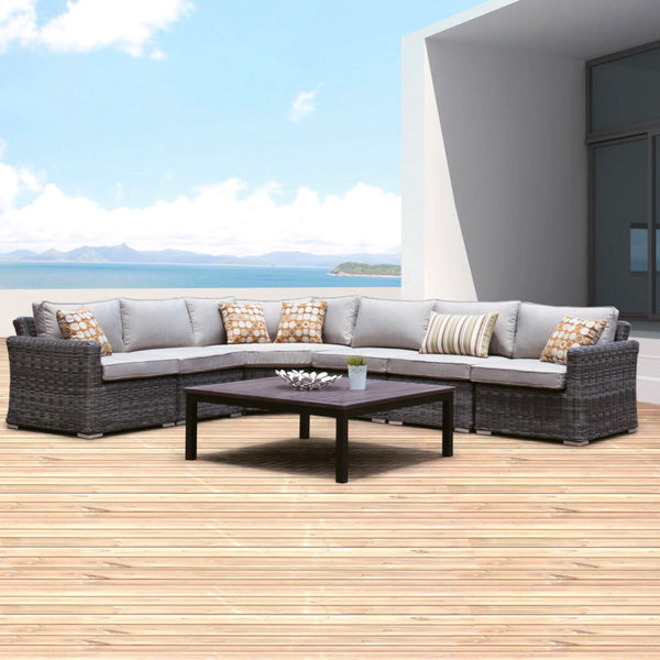 PERTH Modular 6PC Kit/Set LOUNGE JOHNSON - OSMEN OUTDOOR FURNITURE-Sydney Metro Free Delivery