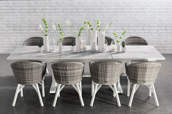 ROMA Extension Table 190/285 DINING Les Jardins - OSMEN OUTDOOR FURNITURE-Sydney Metro Free Delivery