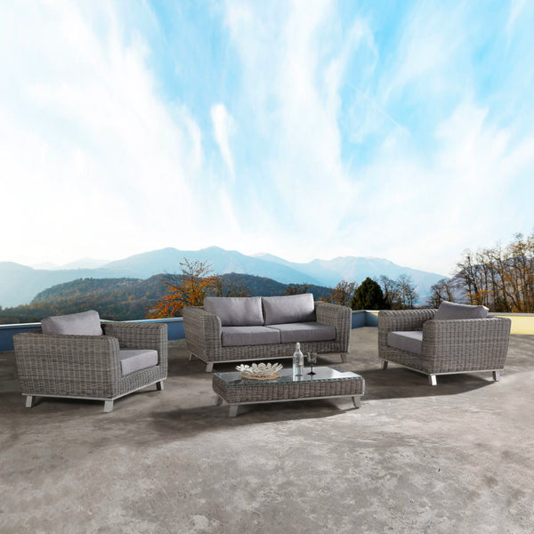 SAINT Lounge 4PC Kit/Set LOUNGE JOHNSON - OSMEN OUTDOOR FURNITURE-Sydney Metro Free Delivery