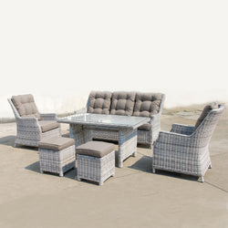 SWISS Modular 6PC Kit/Set Version 2 LOUNGE Nest - OSMEN OUTDOOR FURNITURE-Sydney Metro Free Delivery