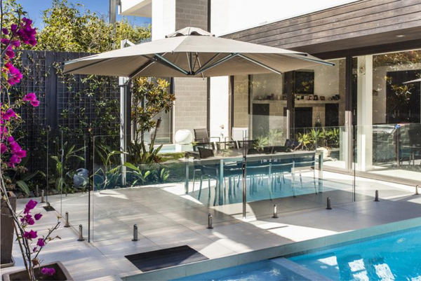 AURORA CANTILEVER UMBRELLA UMBRELLA ISU - OSMEN OUTDOOR FURNITURE-Sydney Metro Free Delivery