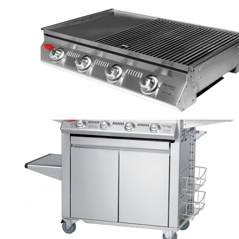 SIGNATURE SL4000 5 BURNER MOBILE BBQ HEATINGANDBBQ Beefeater - OSMEN OUTDOOR FURNITURE-Sydney Metro Free Delivery