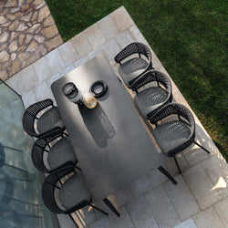 Italian Ceramic Top Outdoor dining table