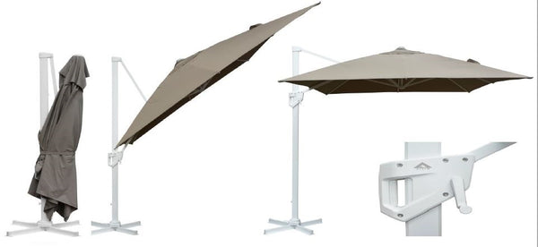 ISCHIA Outdoor Cantilever Umbrella 3x4M with Base