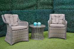Victoria premium Solaris® wicker carver chair - All weather®