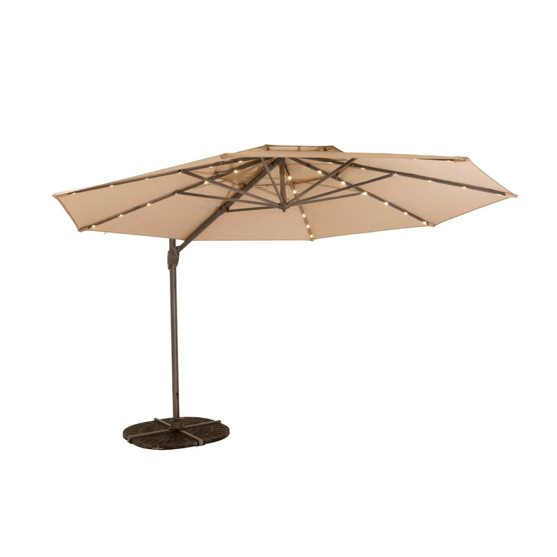 WINDEMERE LED Cantilever Umbrella UMBRELLA shelta - OSMEN OUTDOOR FURNITURE-Sydney Metro Free Delivery
