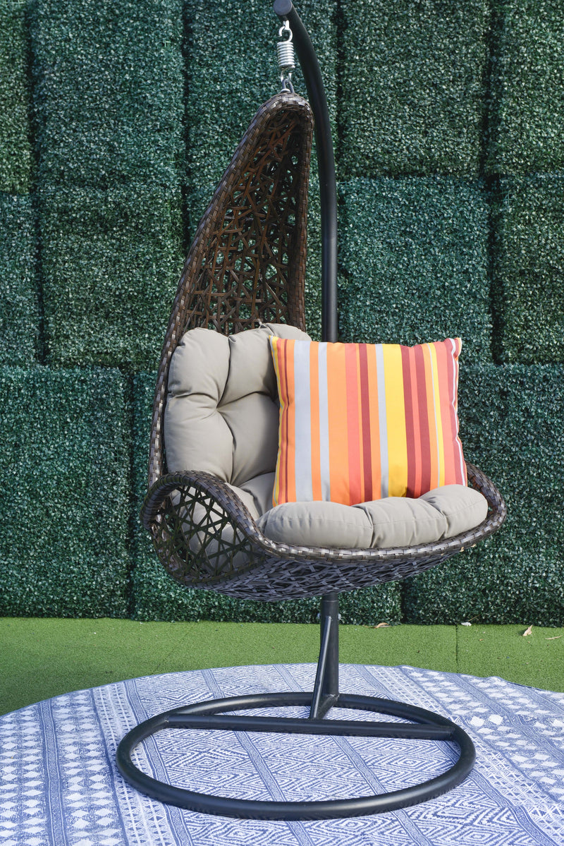 Tempio premium PE®  wicker hanging Chair - Cross Weave® HANGING EGG 0 - OSMEN OUTDOOR FURNITURE-Sydney Metro Free Delivery