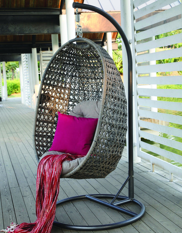 Cora Premium cross weave® Relaxing Egg Chair HANGING EGG OSMEN OUTDOOR FURNITURE - OSMEN OUTDOOR FURNITURE-Sydney Metro Free Delivery