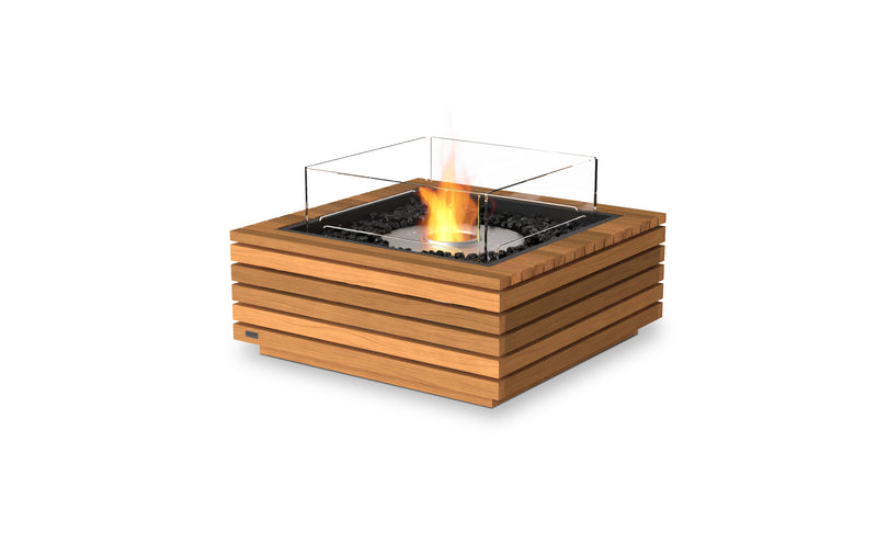 BASE 30 FIRE PIT TABLE Teak Natural