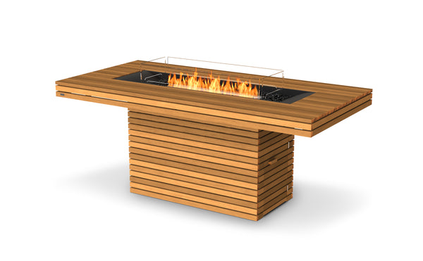 GIN 90 Bar Fireplace - Teak Natural