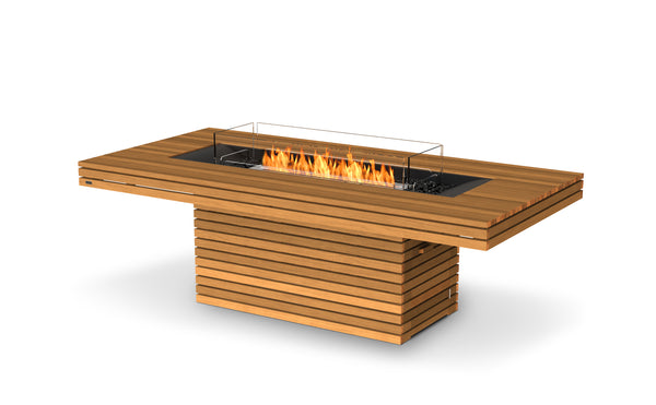 GIN 90 Dining Fireplace - Teak Natural