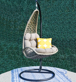 Tempio premium PE® wicker hanging Chair - Cross Weave® HANGING EGG