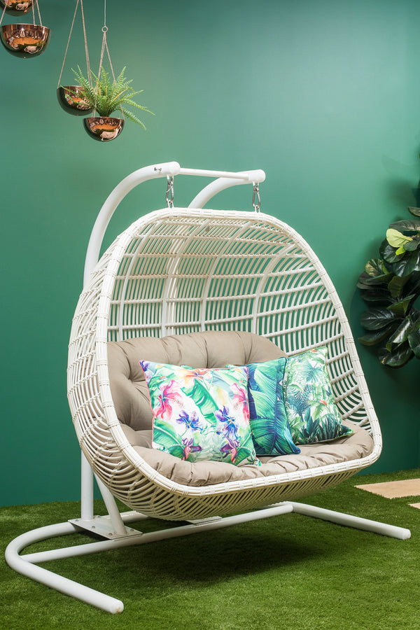 Havana Premium PE® Wicker® Double Hanging Chair (Sunbrella fabric)- All Weather®