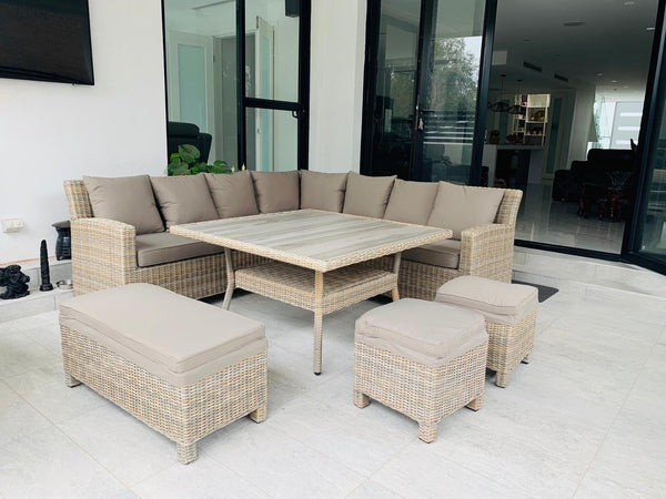 BARBADOS 7pc modular outdoor setting - Olefin® Fabric