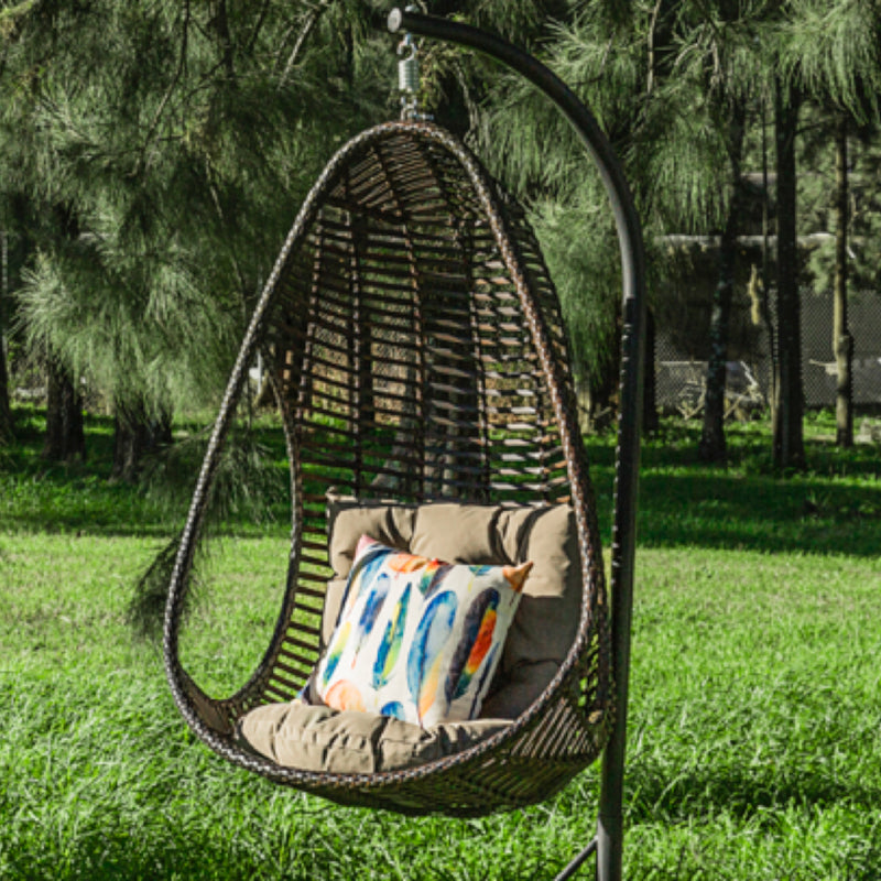 Canna Premium PE® Wicker Hanging Egg Chair HANGING EGG Nest - OSMEN OUTDOOR FURNITURE-Sydney Metro Free Delivery