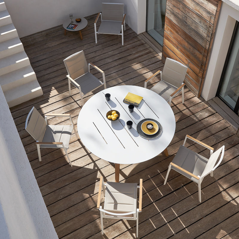 LINK Round Dining Table - OSMEN OUTDOOR FURNITURE-Sydney Metro Free Delivery