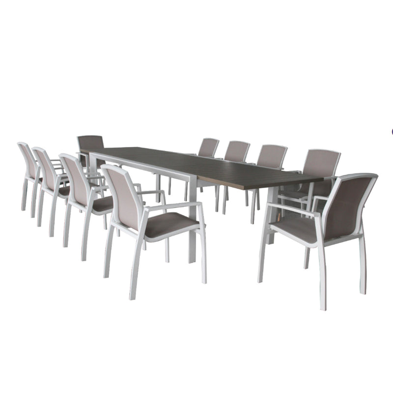 Oxford 11PC Extension Dining Setting DINING VIVIN - OSMEN OUTDOOR FURNITURE-Sydney Metro Free Delivery