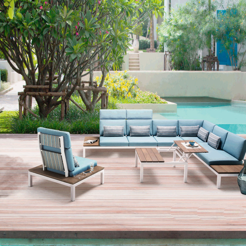 PEBBLE BEACH Modular 6PC Kit/Set LOUNGE Applebee - OSMEN OUTDOOR FURNITURE-Sydney Metro Free Delivery