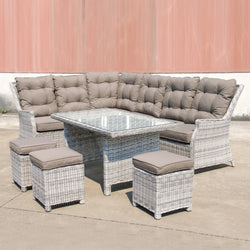 SWISS Modular 6PC Kit/Set Version 1 LOUNGE Nest - OSMEN OUTDOOR FURNITURE-Sydney Metro Free Delivery