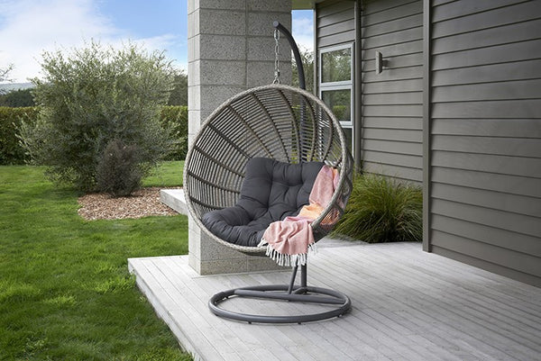 Spider Relaxing Hanging Egg Chair HANGING EGG Nest - OSMEN OUTDOOR FURNITURE-Sydney Metro Free Delivery