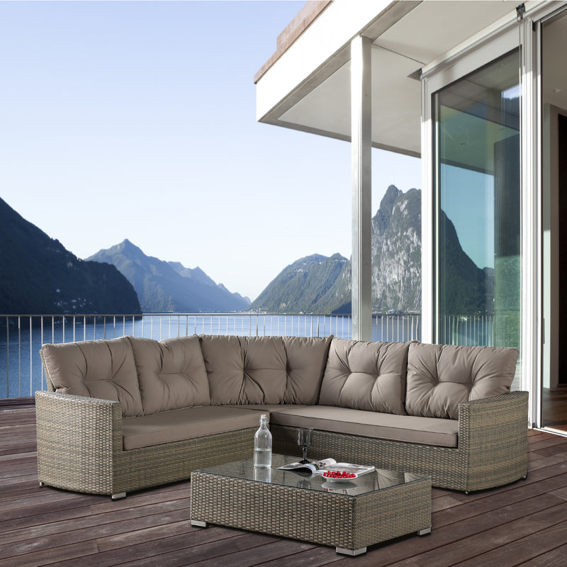 DOUBLE BAY Modular 4PC Kit/Set LOUNGE JOHNSON - OSMEN OUTDOOR FURNITURE-Sydney Metro Free Delivery