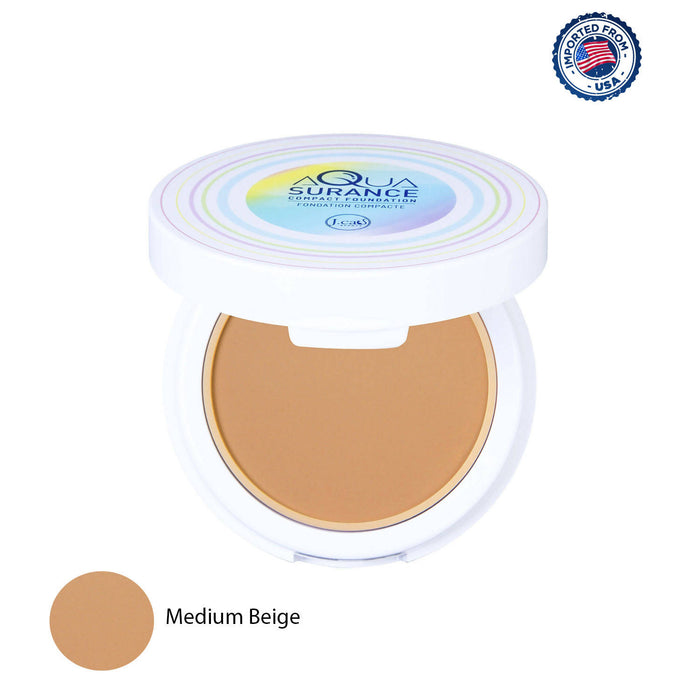 J.Cat Beauty Aquasurance Compact Foundation - Medium Beige, 9g