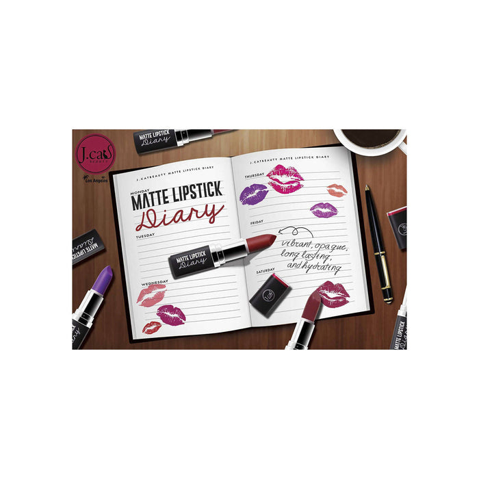 J.Cat Beauty Matte Lipstick Diary - Always Ready
