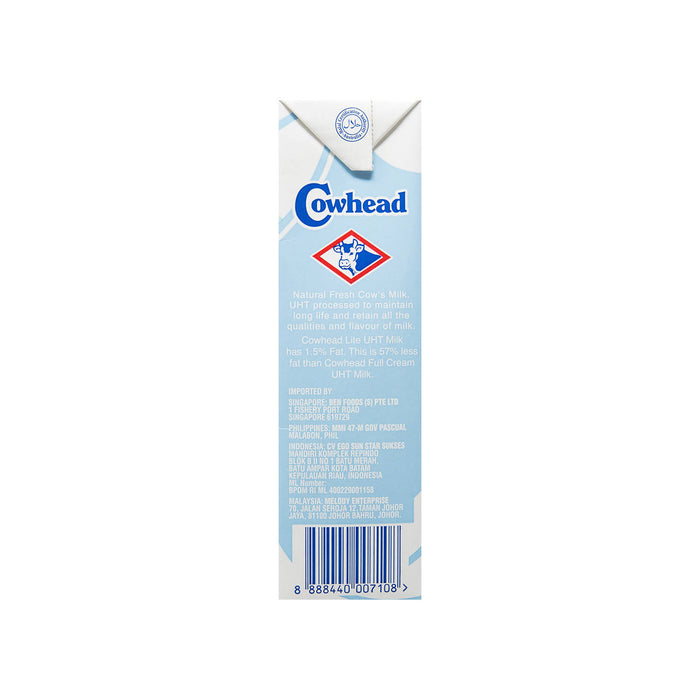 Cowhead Pure Milk, Low Fat High Calcium, 1L