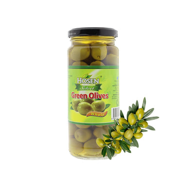 Hosen Select Green Olives Whole, 350g