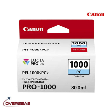 Canon Photo Cyan Ink Cartridge, PFI-1000