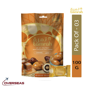 Tamrah Caramel Chocolate Zipper Bag, 100g - Pack Of 3