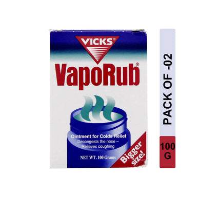 Vicks Vaporub 100g, Pack of 2