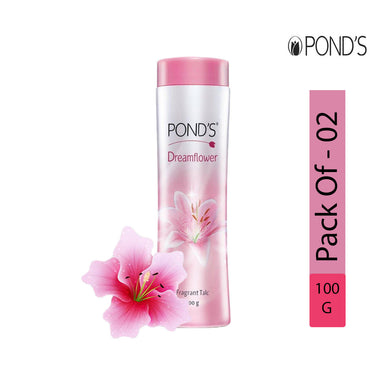POND'S Dreamflower Fragrant Talc, 100g - Pack of 2