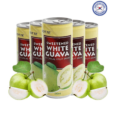 Lotte Sweetened White Guava Drink 240ml, Pack of 5