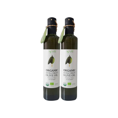Agrilife New Organic extra virgin olive oil (100%) cold pressed, 500 ml Pack Of 2