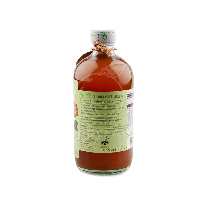 Agrilife Organic Coconut Cider Vinegar, 480 ml